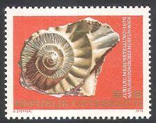 Austria 1976 FOSSILI/piritizzate/MUSEUM/NATURA/Animali/LA STORIA 1v (n32311)