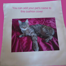 Personalised Cushion cover add photos or images of children cats dogs pets baby