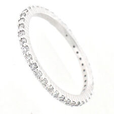 14k Diamond Eternity Band 0.74 Cts (SI1-G)  - Eternity Diamond Ring- Size 7.5