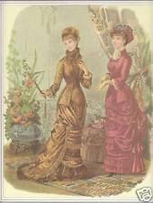 Publicité ancienne  mode robe longue issue de magazine