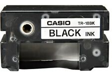 Casio TR-18BK-S Black Ink Ribbon Cassette for Disc Title Printer CW50 75 100 300
