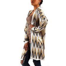 Langarm Damen-Pullover & -Strickware mit Karo/Rauten ohne Verschluss