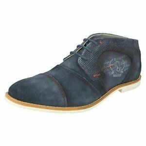 BUGATTI 313-11115-1469 Mens Dark Blue Suede Low Top Boot / shoe