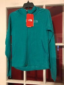 The North Face Girls Full Zip Hoodie Medium(10-12) TriBlend NWT Kokomo Green