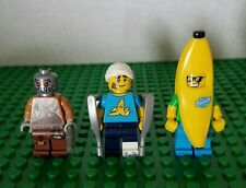 LEGO Minifigure Lot Series Movie 15 & 16 Wiley Fusebot, Clumsy & Banana Guys Set