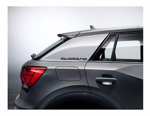 Audi Dekorfolie quattro Schriftzug Brillantschwarz 81A064317 Y9B