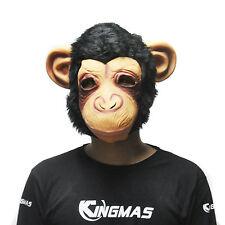 Popular Cosplay Mask Halloween Cute Animal Latex Big Ears Chimp Monkey Mask HOT