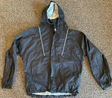 Harley Davidson Reflective Rain Gear Jacket LRG Black Packable Waterproof Shell