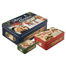 Scatole in Latta richiudibile contenitore Merry Christmas Set (3 pieces)