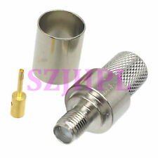 1pce Connector SMA female jack crimp RG8 RG213 LMR400 RG214 cable nickel
