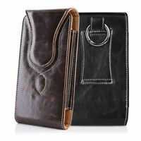 Premium Leather Holster Case Vertical Pouch Carring Belt Clip for Cell Phones