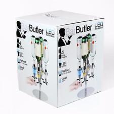 LED beleuchtet drehbar Bar Butler 4 Flaschen Optik Getränkespender auslaufsicher