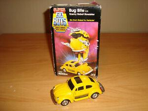Original SUPER GOBOTS BUG BITE Figure in Box VINTAGE Tonka/Bandai TRANSFORMERS