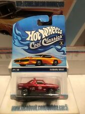 Subaru Brat Red * Hot Wheels Cool Classics Orange Otto Card