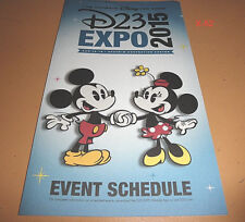 DISNEY D23 EXPO exclusive FAN EVENT SCHEDULE program MICKEY minnie MOUSE 2015