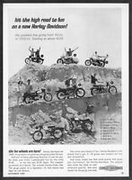 1966 Harley-Davidson Sprint Electra-Glide Sportster Sprint Bobcat photo print ad