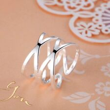 XMPJ268 Adjustable Male Female 925 Silver Ring Intertwined rings jewelry gift
