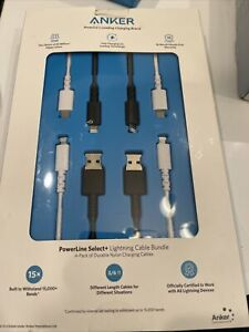 Anker PowerLine II USB-A to Lightning Cable 4-pack - Open Box