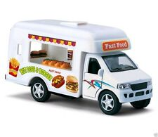 "5"" Kinsfun Fast Food Lunch Truck Hot Dog Hamburger Van Diecast Model Toy Truck"