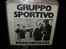 """GRUPPO SPORTIVO more mistakes ( rock ) 7""""/45 picture sleeve"""