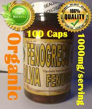 Fenogreco Alholva 100 Capsules Organic Fenugreek - Mejora Pecho y Gluteos !!!