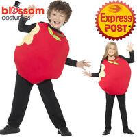 CK1008 Apple Kids Funny Fruit Food Fancy Book Week Costume Outfit Boys Girls