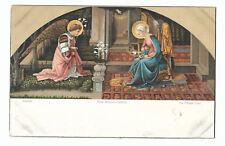 1900s Antique Postcard ~ Fra Filippo Lippi, The Annunciation ~ Rotograph