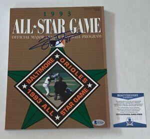 Frank Thomas White Sox signed 1993 All Star Game Program Beckett Witnessed