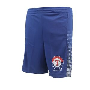 Texas Rangers Official MLB Genuine Kids Youth Size Athletic Shorts New with Tags