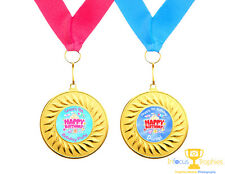 10 x Personalised Birthday Party Medals Gifts Favours Present Ideas Boys & Girls