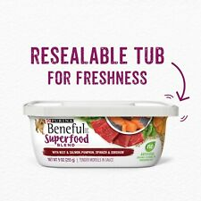 8 Individual Containers of Purina Beneful Superfood Blend Beef & Salmon