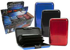 RFID SCANNING BLOCKER CREDIT CARD WALLET CASE - PROTECT AGAINST IDENTITY THEFT