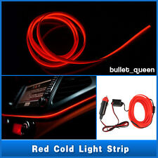 2M 12V EL Wire Red Cold light lamp Neon Lamp Car Atmosphere Lights Unique Decor