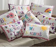 Farmhouse Embroidered Rectangular Decorative Cushions