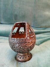 Antique silver egg shaped incense burner censer spice container - ?Indian