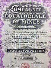 Congo Afrique 1928 Action Afrique Compagnie Équatoriale Oubangi Chari Bénard