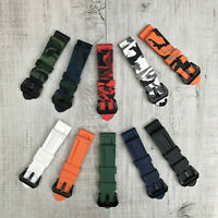 Compatible with Panerai PAM 24mm Camo Rubber Silicone Divers Watch Strap Band