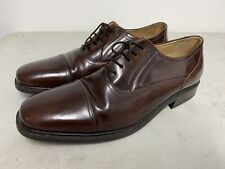 CLARKS MENS BROWN LEATHER SMART LACE UP SHOES UK SIZE 11