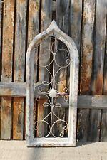 Zierfenster Antik Vintage Shabby Look Dekofenster Gitter Metall Holzrahmen #4089