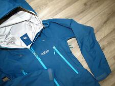 Rab Latok Alpine Event Waterproof Women's Jacket XS UK8 RRP£300 Blue Rain coat
