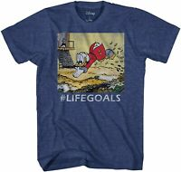 Disney Ducktales Scrooge Goals McDuck Adult Tee Graphic T-Shirt for Men Tshirt