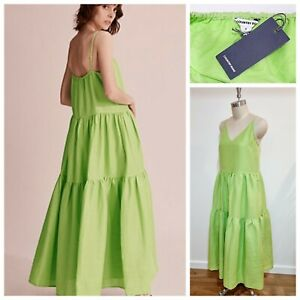 NWT COUNTRY ROAD MAXI DRESS [12 M] WOMANS, Celery Green Summer Outfit | RR$199