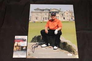 JACK NICKLAUS SIGNED 11X14 PHOTO GOLD CORNER WEAR JSA COA JB632