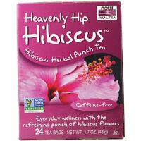 Now Foods Heavenly Hip HIBISCUS TEA Caffeine-Free - 24 Bags