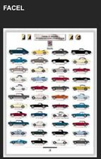 Facel - Vega History Car Poster Extremely Rare! Own It! Stunning!