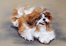 SHIH TZU DOG FINE ART LIMITED EDITION PRINT - Number 15/100