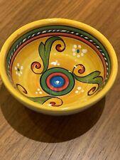 """4"""" Sberna Deruta Italy Italian Hand Painted Pottery Ceramic Bowl Florence Italy"""