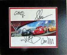 Disney Cars 3 Photo Autographed Owen Wilson Armie Hammer Cristela Ramirez +One
