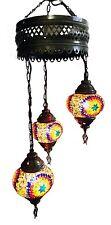 Vendedor Reino Unido turco marroquí Tiffany Colgante Lámpara Lámpara Luz 3 mosaico de vidrio