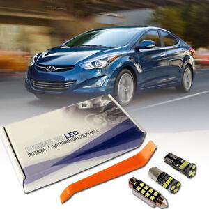 Hyundai Elantra LED Interior Premium Kit SMD Bulb White Error Free Lantra Sonata